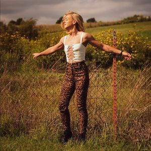 Verge Girl Weight In Gold Leopard Pants AUS 6